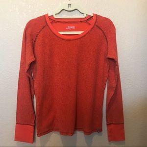 Columbia orange thermal shirt XLarge
